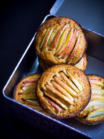 Integralni kolačići s jabukama i medom