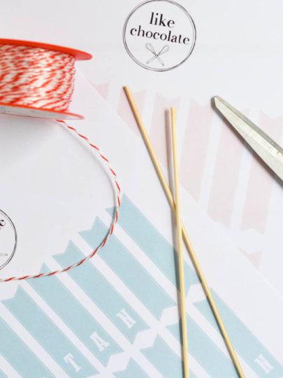 [DIY] Zastavice za torte: predlošci za printanje i upute za izradu