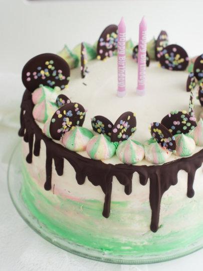 Akvarel torta s vanilijom i voćem + Nevin drugi rođendan