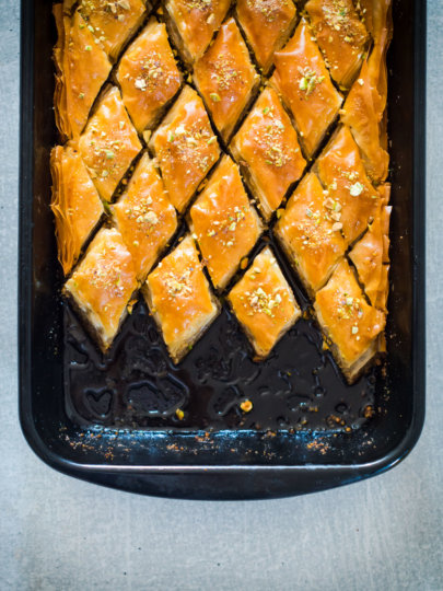Baklava s orasima i pistacijom
