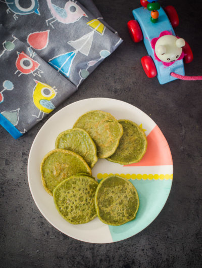 Zeleni muffini/palačinke {8 mjeseci}