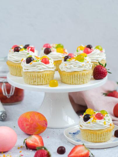 Cupcakes od vanilije i jagoda