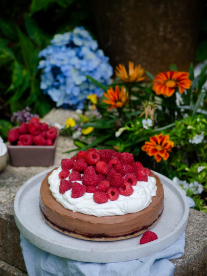Nepečena torta od čokolade i malina