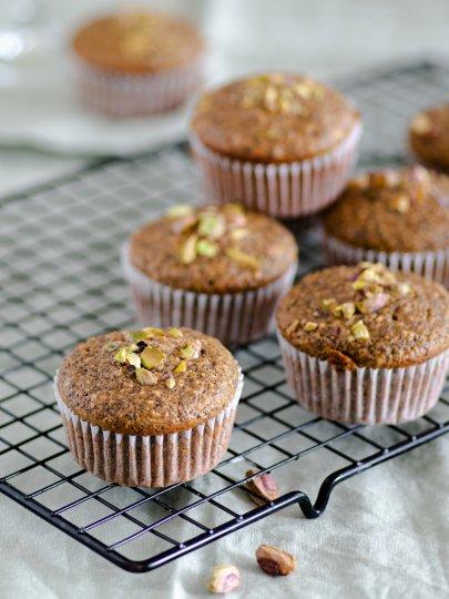 Muffini od maka, limuna, badema i pistacije