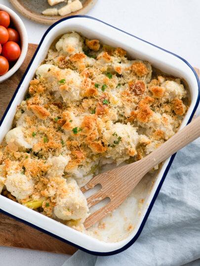 Gratinirani krumpir s cvjetačom