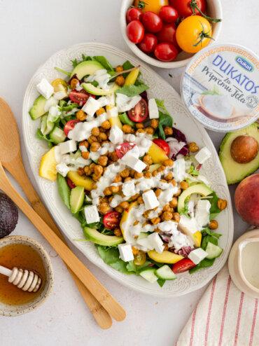 [Video] Lagani obroci: Salata s pečenim slanutkom, avokadom i breskvama
